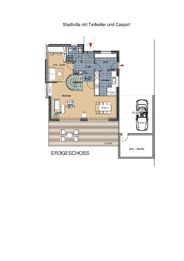 stadtvilla mit teilkeller und carport ais. Black Bedroom Furniture Sets. Home Design Ideas
