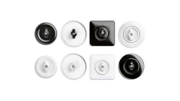 Schaltersysteme aus Porzellan, Bakelit®, Duroplast